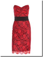 Valentines Red Lace Dress