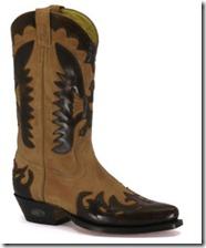 Loblan tan cowboy boot