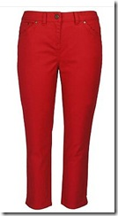 debenhams red cropped jeans