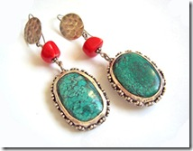 maia turquoise earrings