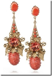 Bijoux Heart Coral Earrings