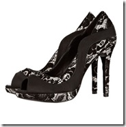black lace shoe