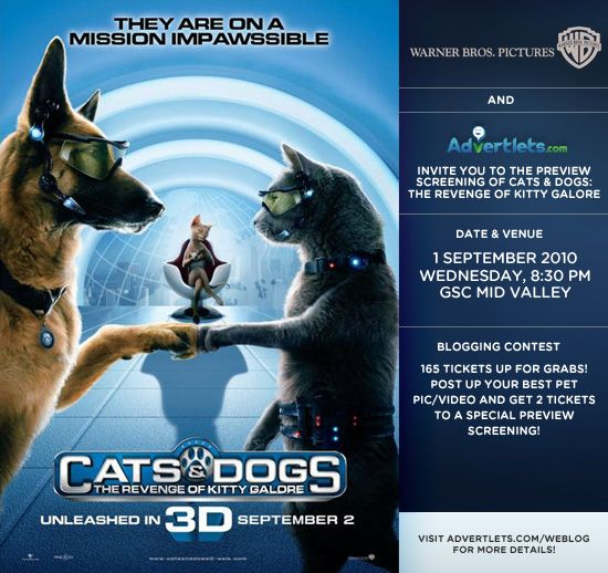 charlie chia movie screening cats amp dogs in 3d