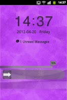 Screenshot of Purple Violet Theme GO Locker
