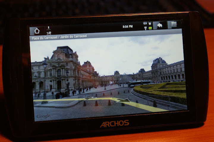 Archos 5 Internet Tablet with Android and Google Street View