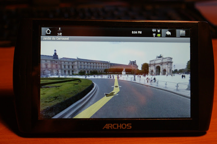 Archos 5 Internet Tablet with Android and Google Streetview
