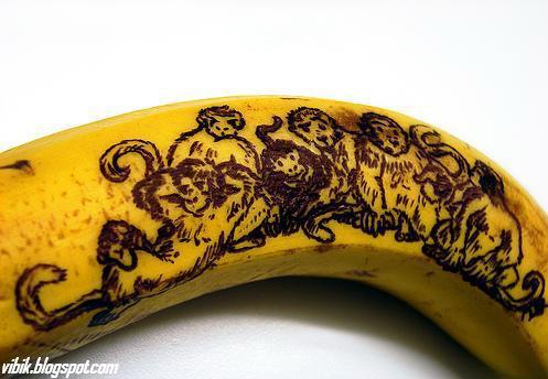 Seni kreatif dalam buah pisang