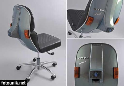 Kursi Unik buat Penggila Vespa | Kursi Vespa Keren