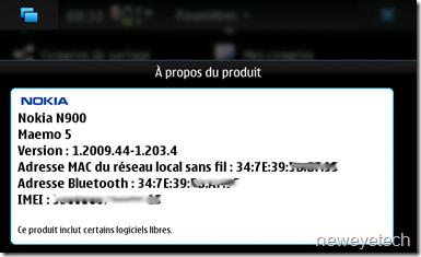Mise à jour Nokia N900