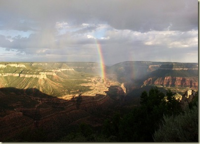 11 Double rainbow over Crazy Jug Canyon from Crazy Jug Point Kaibab NF AZ