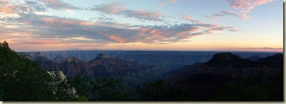 04 Sunset over canyon from BAP trail NR GRCA NP AZ pano (1024x368)