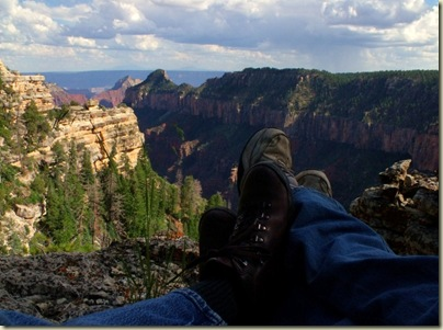 08 Gaelyn & Mike's feet overlooking Transept canyon from Widforss trail NR GRCA NP AZ (1024x768)