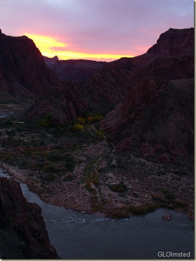 14 Sunset over confluence Co R & Bright Angel Crk & Phantom Ranch from S Kaibab trail GRCA NP AZ (600x800)