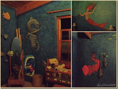 Paintings on bedroom wall at CSers