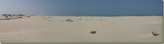 05 Sand dunes & Gulf of Mexico along Park Rd 100 Padre Island TX pano (1024x268)
