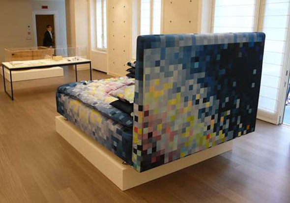 modern pixelated bed furniture design inspiration ideas