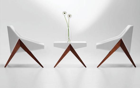 elegant white chair and desk furniture