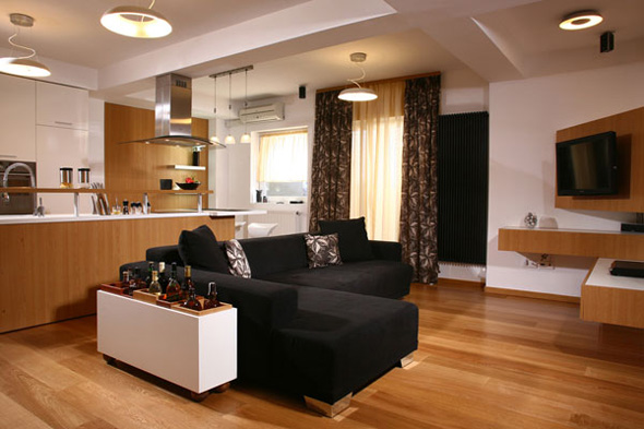 luxury apartment decorating design in timisora