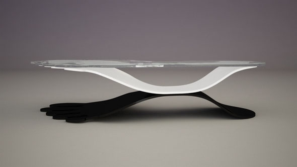creative step glass coffee table sets