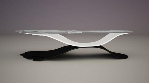 creative step glass coffee table sets