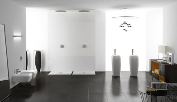 contemporary sanitaries bathroom interior decoration