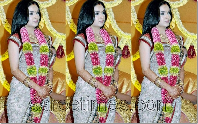 soundarya-rajinikanth-Sabyasachi-sari-WEdding-Reception