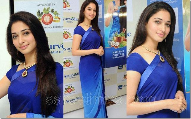 Tamanna-Blue-Dual-color-Sari