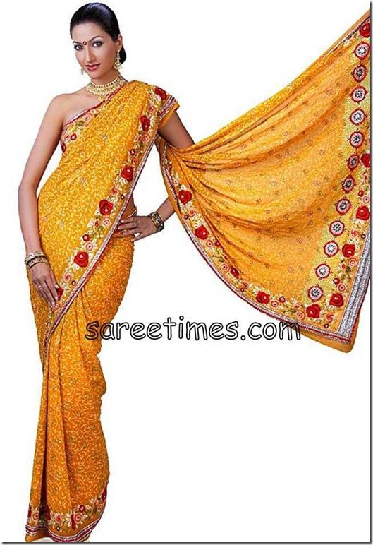 Hamsa-Nandini-Mustard-Embroidery-Saree