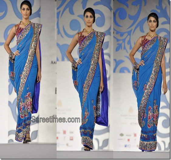 Nisha_Sagar_Blue_Designer_Saree