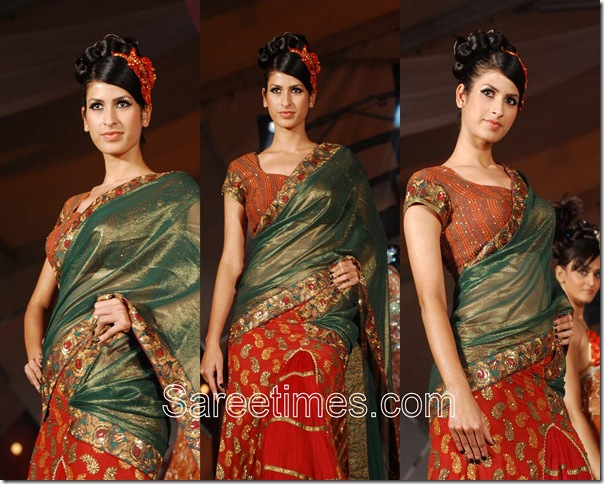 Rohit_Verma_Red_Designer_Saree