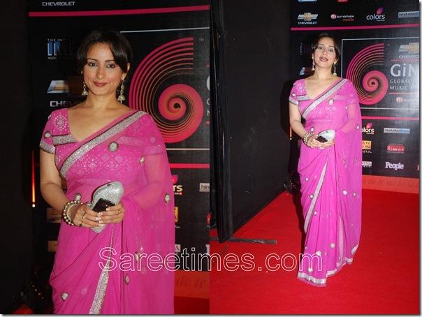 Divya_Dutta_Pink_Designer_Saree