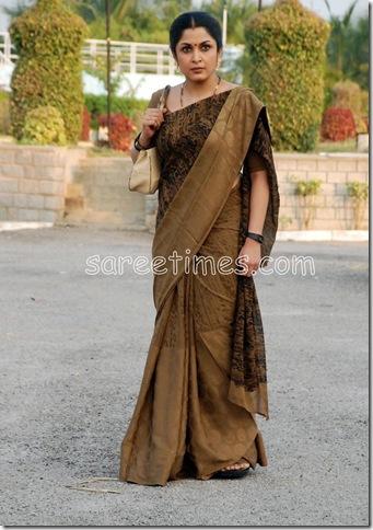 Ramya-Krishna-Chiffon-Saree