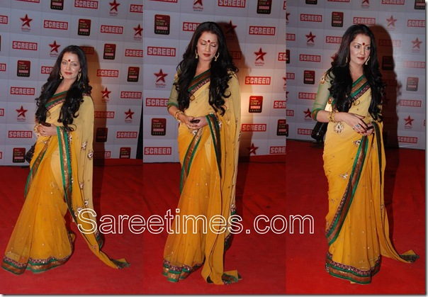Celina_Jetly_Yellow_Saree