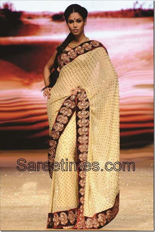 Cream_Polka_Dots_Saree