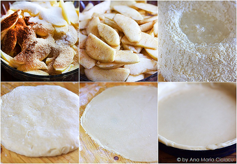collage apple pie