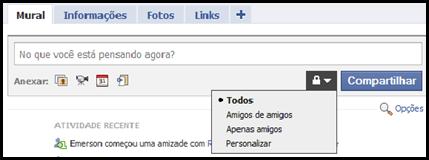 Facebook - restrição