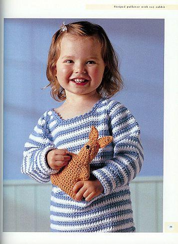 بلوزات كروشية للاطفال بكم طويل بلايز كوشية مع البترون كروشية