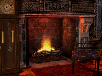 Gothic Fireplace animated wallpaper