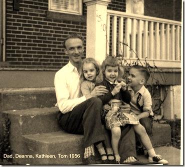 dad & kids 1956