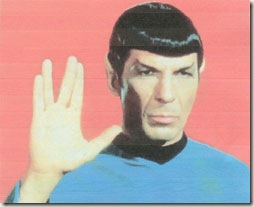 mr_spock giving the vulcan spread finger greeting