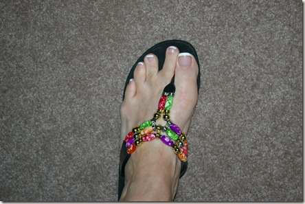 my feet with a wide spread between the second and third toe