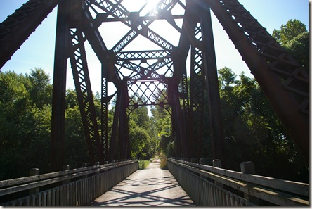 A railroad trestle