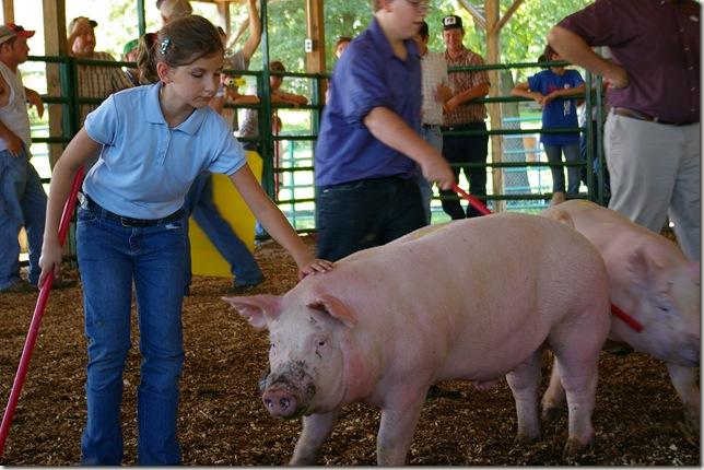 Cara showing her pig