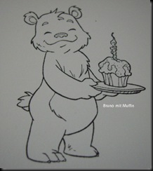 Bruno mit Muffin