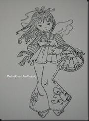 Melinda mit Muffinkorb