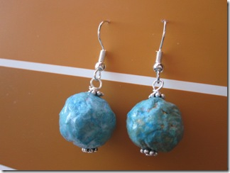 Paper mache earrings infarrantly creative for How to make paper mache jewelry