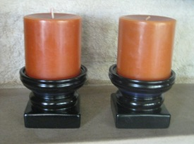 Stubby candlesticks after
