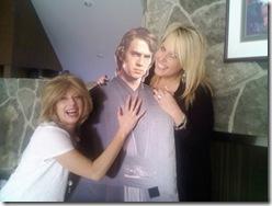 Kathy (in Brenda's wig), Hayden and Lori