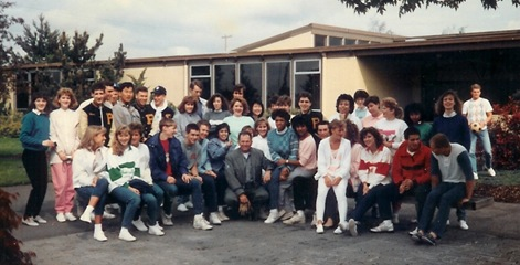 PAA Class of 1986, just before leaving on our class trip