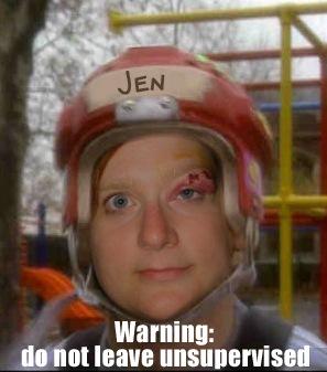 Helmeted Jen